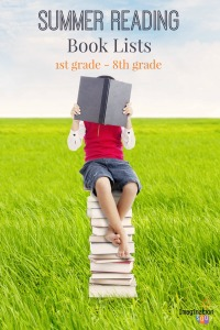 Iimage child on stack of books
