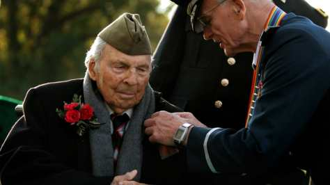 WWI Veteran receiving a medal